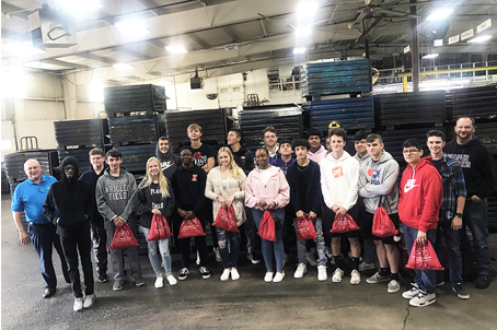 plano high school students visited valley fastener